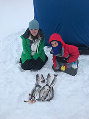 Ice Fishing Higgins Lake